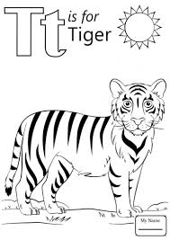 T Coloring Pages Letter Page Free Printable Animal For Adults 12 771