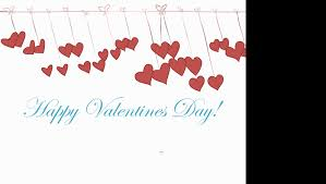 valentine s day card with animated hearts