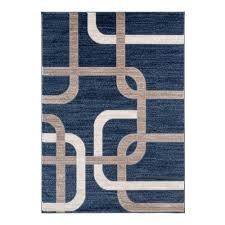 la dole frieda modern 2 x 3 3 rectangle area rug navy blue beige only