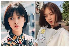 Bentuk wajah lonjong yang tirus merupakan bentuk favorit banyak wanita. 8 Inspirasi Model Rambut Pendek Ala Korea Untuk Wajah Lonjong Womantalk