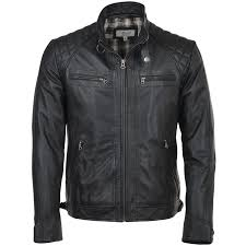 leather biker jacket black bronx