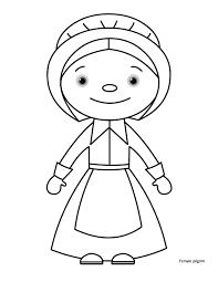 thanksgiving pilgrim girl coloring pages. Exellent Girl Thanksgiving Coloring Pages In Pilgrim Girl N