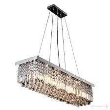 modern rectangular pendant lamp luxury chandelier crystal led lighting fixtures gorgeous for dinning room hotel bedroom hanging light