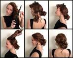 Как сделать причёску на длинные волосы пучком