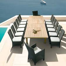 Extending Outdoor Dining Table Apex 154 Inch Extending Dining Table Extremely Large Patio