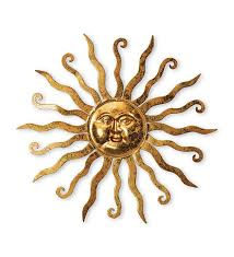 fashionable ideas sun wall art home remodel gold metal hanging plow hearth decor outdoor large uk garden light
