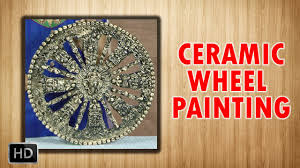 learn ceramic wheel painting ceramic art beginners painting lessons you