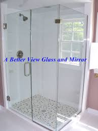 custom frameless glass shower door enclosure installed in yorktown virginia