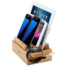 multiple ipad charging station. Fine Ipad ICozzier Mini Bamboo Stand MultiDevice Charging Station And Cord  Organizer Stand Dock For And Multiple Ipad T