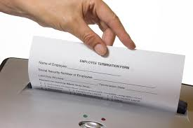 Discarding A Employee Termination Form Stock Photo - Image Of ...