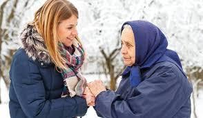 Image result for elderly winter