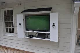 E Amazing Outdoor Tv Cabinet For Flat Screen T V In A Box And Google Search  With Door Weatherproof Protection Design Diy Wall Stand