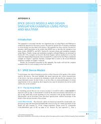 Op Model Design Spice Device Models And Design Simulation Examples Using Pspice