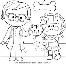 Veterinarian Coloring Page Vet Printable Coloring Pages Veterinarian