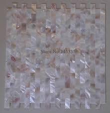 Groutless Ziegel Mutter Der Perle Shell Mosaik Fliesen Rosa Gelb