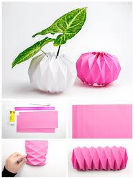 Paper Flower Pots Diy Origami Plant Pot Covers