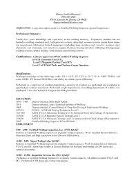 Qc Welding Inspector Resume Format Resume Format Example