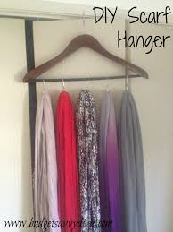 how to make a scarf hanger using shower curtain rings and a hanger