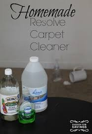 DIY Resolve Carpet Cleaner Recipe for at home cleaning hacks!