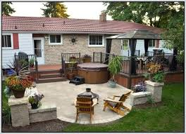 deck and patio plans stylish deck and patio ideas for small backyards backyards with decks and