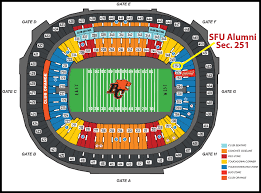 Bc Place Seating Chart Sfu Alumni Event Bc Lions On Nov 1