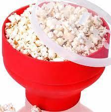 1 adet yeni FDA silikon kırmızı patlamış mısır kasesi ev mikrodalga mısır  patlatma makinesi kase mikrodalga güvenli patlamış mısır Bakingwares kova  LN 002 popcorn bowl bowl microwavemicrowave bowl - AliExpress