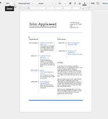 Resume Format Google Docs Create an EyeCatching Resume in Google Docs Things to know 12