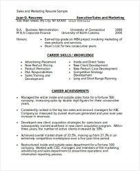 Sales And Marketing Resume Sample Musiccityspiritsandcocktail Com