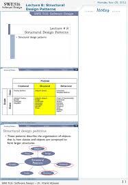 Design Patterns Lecture Notes Lecture 8 Structural Design Patterns Monday Nov 05