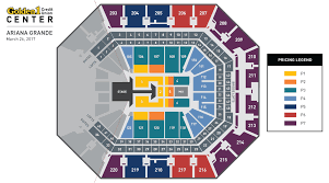 Golden One Seating Chart With Rows Ariana Grande Golden1center