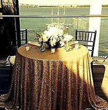 ships immediately 108 round gold sequin tablecloth sequin cake table sequin sweetheart table for wedding party gold