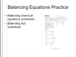 balancing equations practice worksheet answer chapter 5 writing balanced and chemical 1