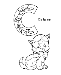 Small Picture ABC Alphabet Coloring Sheets ABC Cat Animals coloring page C