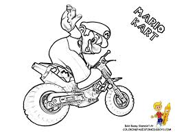 Small Picture Mario Kart Colouring Pages FunyColoring