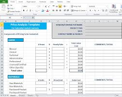 Free Download Spreadsheet Templates Price Analysis Spreadsheet Template Excel Tmp