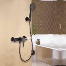 matte black shower faucet wall mount