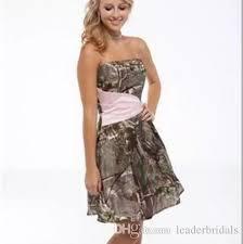 short camouflage wedding dresses strapless summer mini camo