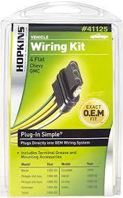 amazon com hopkins 41125 plug in simple vehicle wiring kit automotive