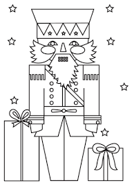 Christmas Nutcracker Soldier Coloring Page Free Printable Coloring