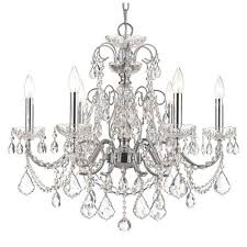 crystorama lighting group imperial wrought iron crystal chandelier with swarovski spectra crystal