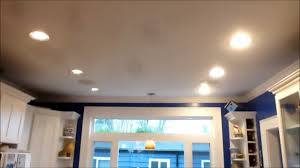 Recessed Kitchen Lighting Kitchen Can Light Led Retrofit Comparision Youtube