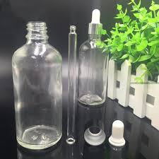 free sample100ml clear essential oil e glass dropper bottles with euro dropper or mist sprayer
