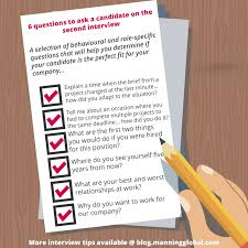 Questions For Second Interview Six Questions To Ask A Candidate On The Second Interview Blog By
