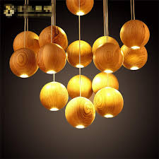 wood chandelier lighting native wood handmade wooden chandelier hanging led pendant lamp ceiling light meteoric
