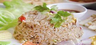 Wash the rice, and mix it with the pandan leaves, herb juices, blue pea flower juice, kaffir leaves and palm sugar. Special Nasi Goreng Kampung Malaysian Non Vegetarian Recipe
