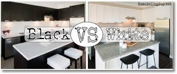 Black Kitchen Cabinets or White Kitchen Cabinets?