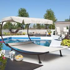 have to have it for by the pool del rey double chaise lounge with canopy 499 99 outside decor and landscaping ideas chaise lounges