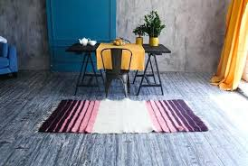 striped kitchen rug red and white