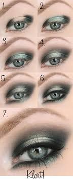 description cly smokey green eye makeup