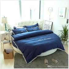 navy blue round bed bedding set featured cotton clothes tassel quilt blanket comforter duvet cover